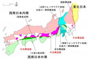大鹿村中央構造線博物館ホームページより  断層